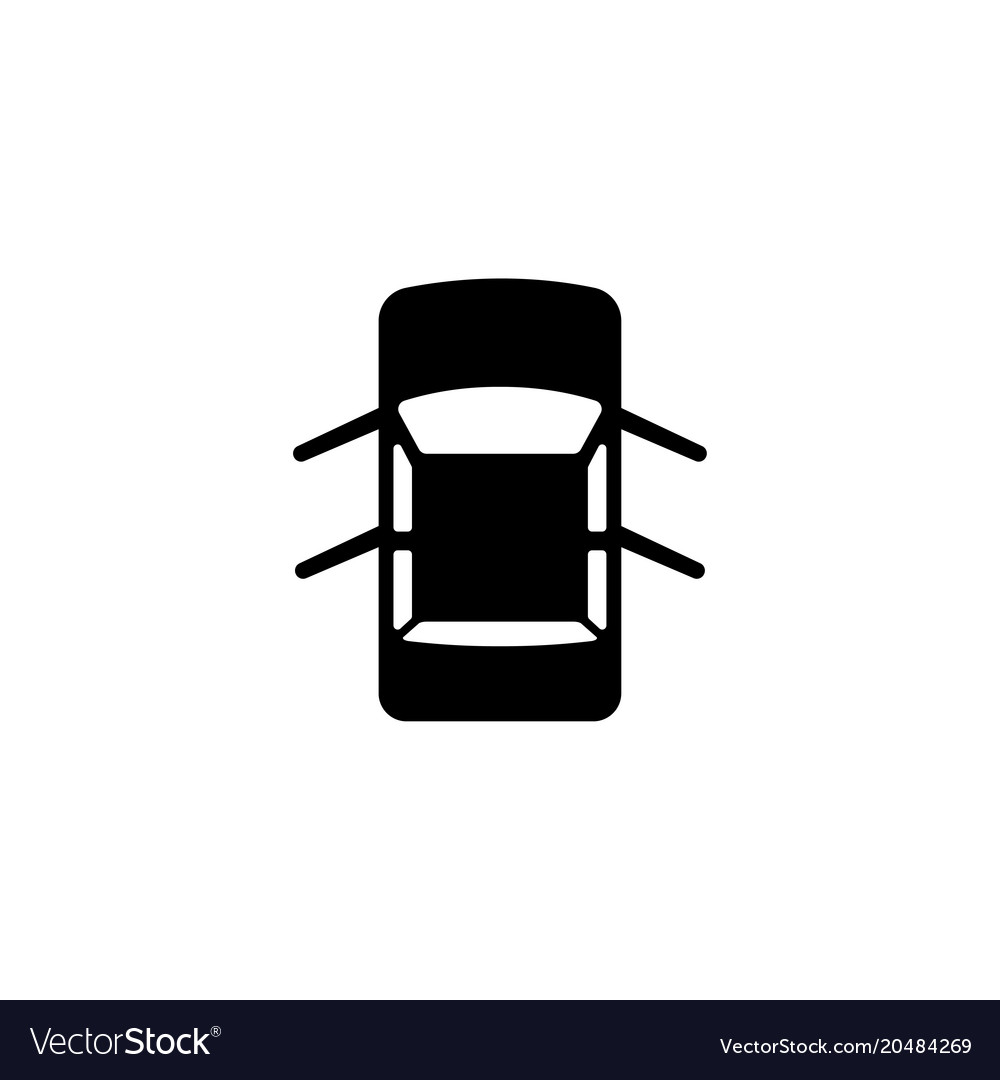 Car with open doors flat icon