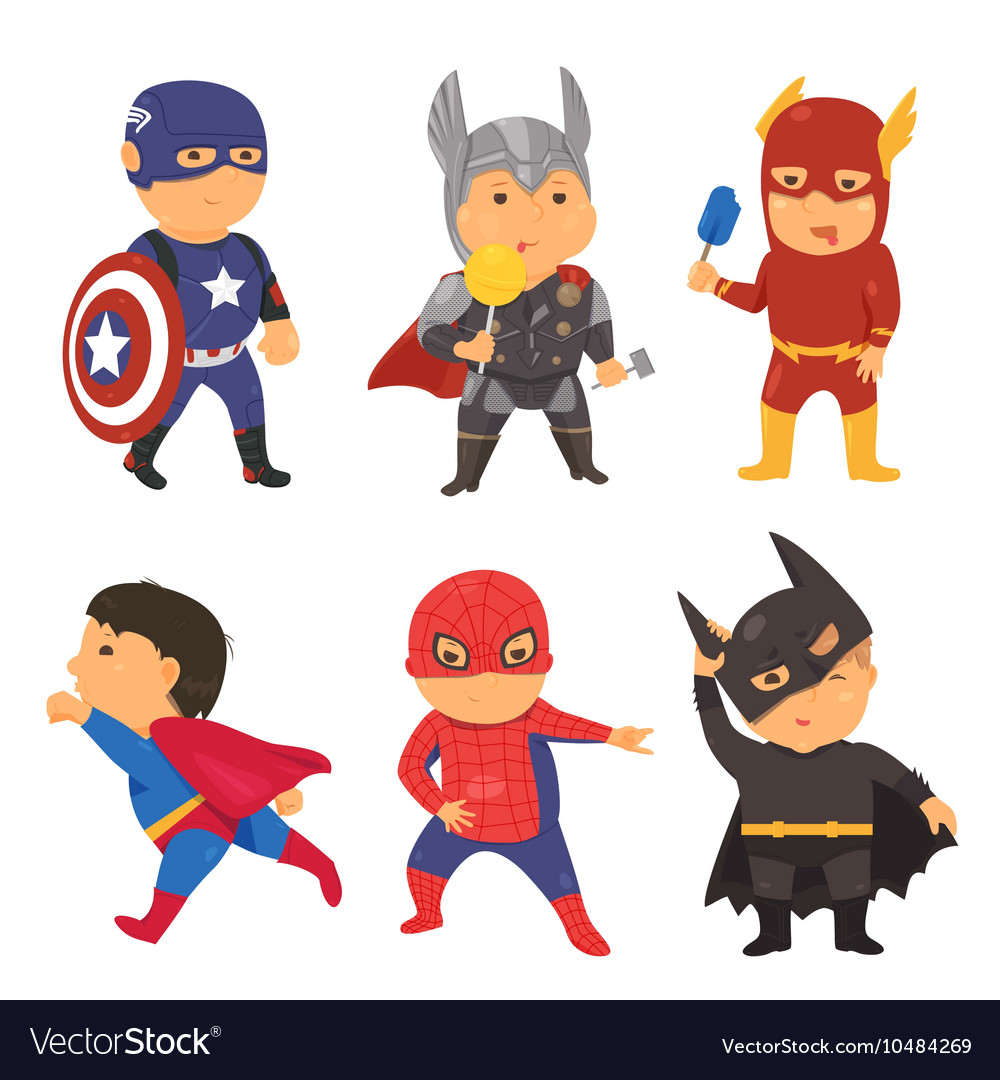 Cartoon superhero costume kids