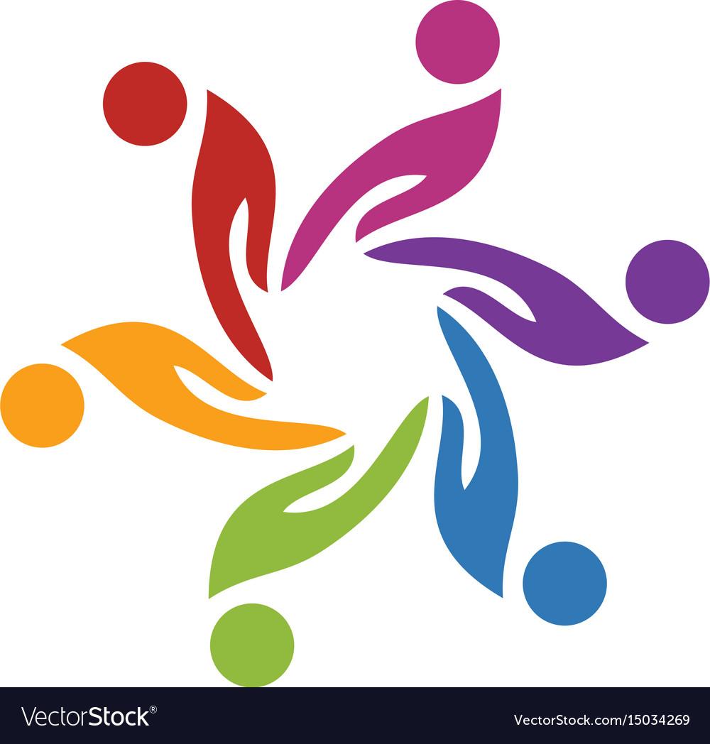 Hands teamwork logo image