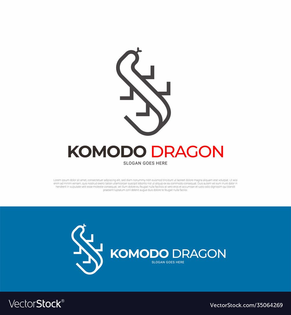 Komodo dragon animal logo design