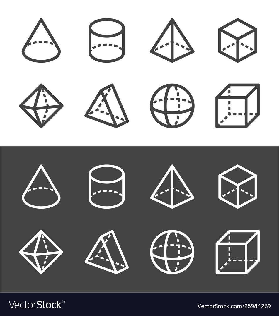 Transparent geometric line icon