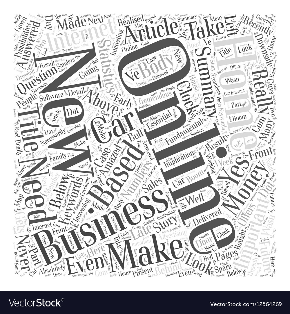 Would you like to Make Money Online Word Cloud vector image