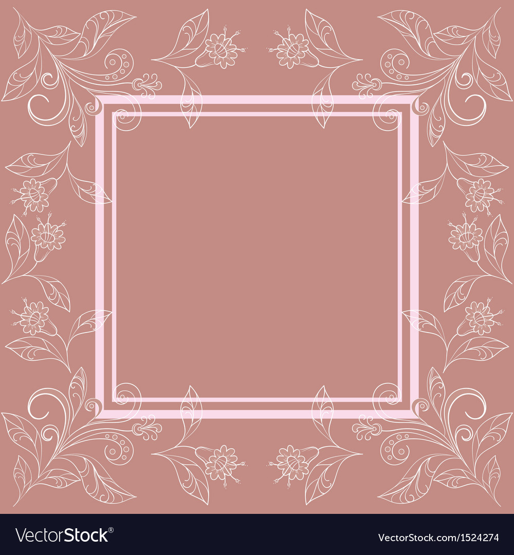 Background with contours of flowers vector image