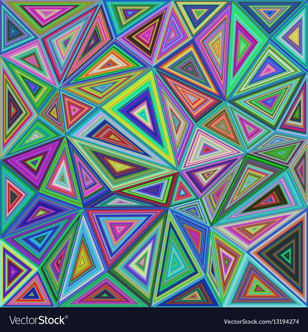 Colorful irregular triangle mosaic background