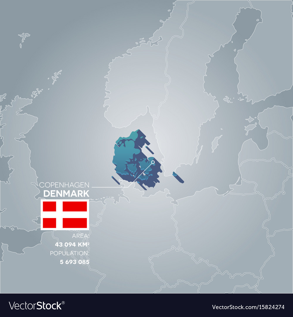 Denmark information map vector image