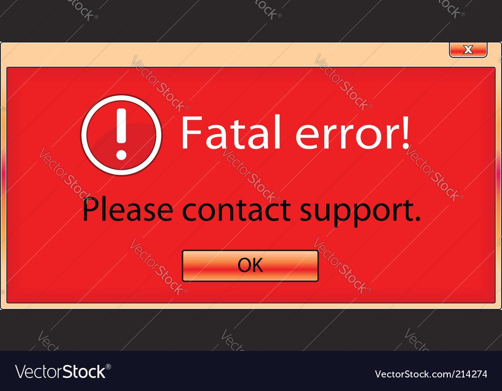Fatal error window vector image