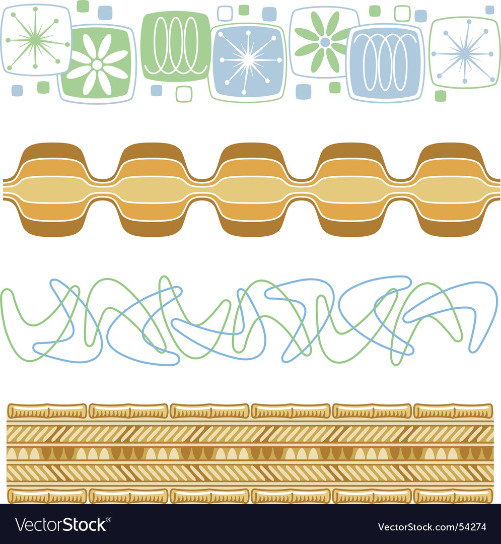 Fifties patterns vector image