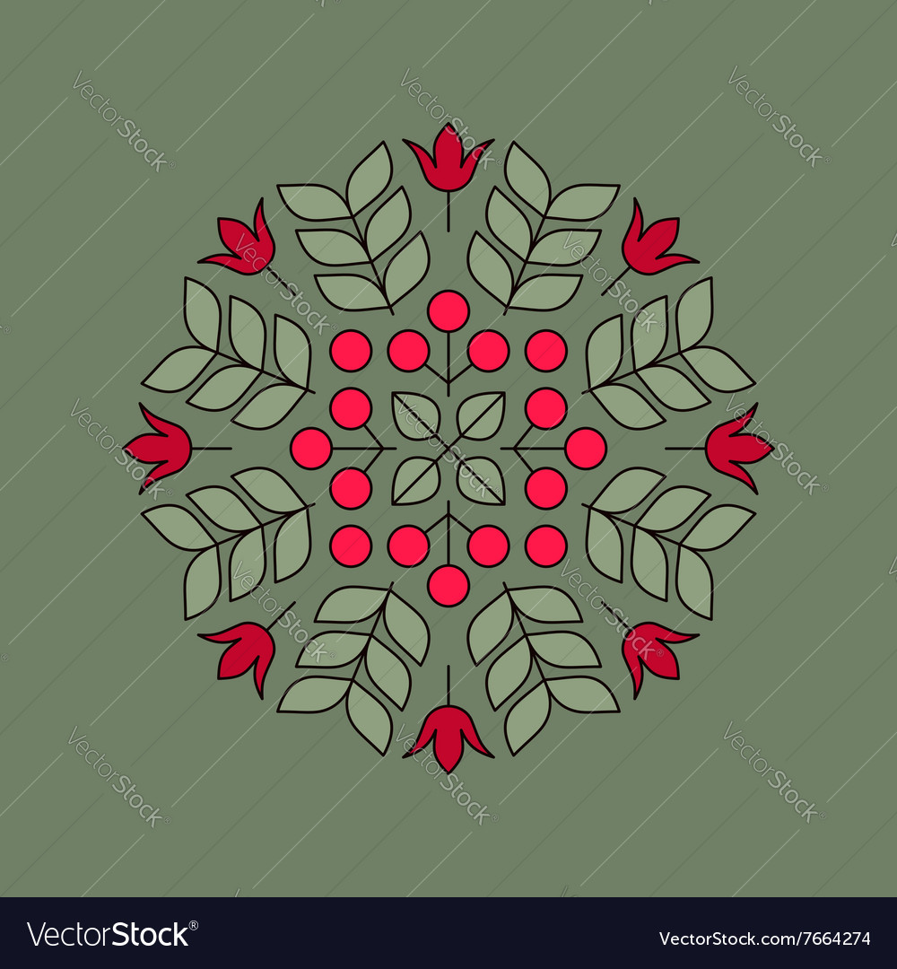 Floral Element Linear Style vector image