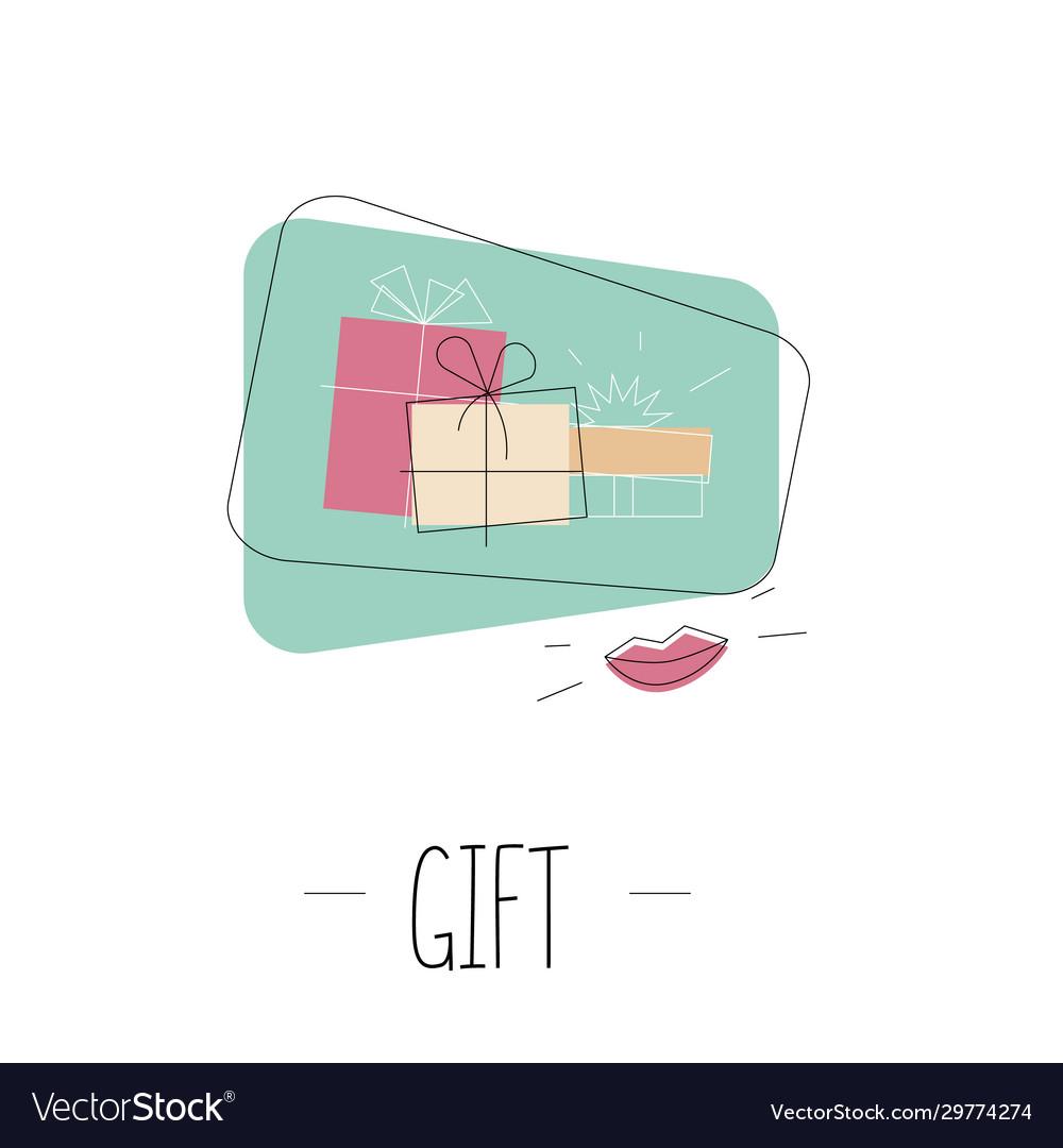Gift box outline