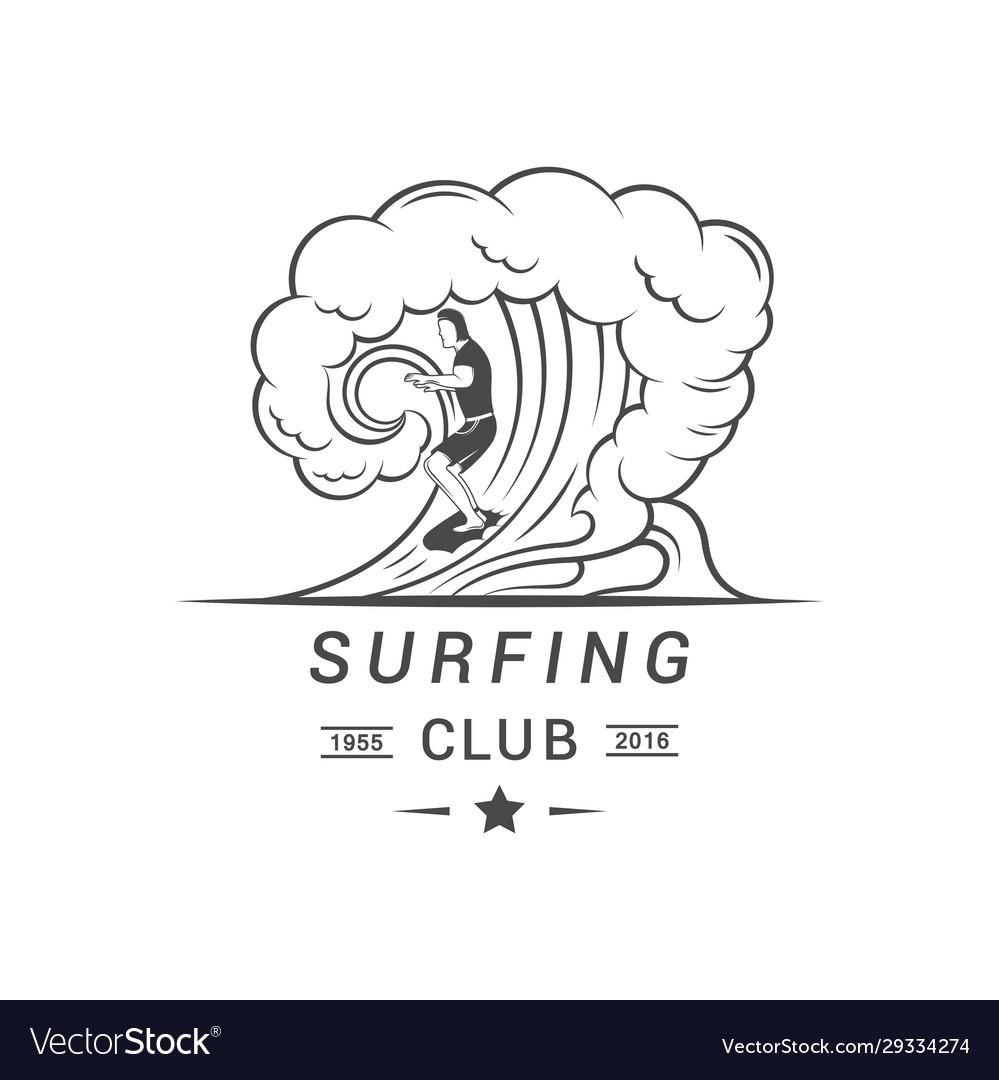 Surfing club logotype