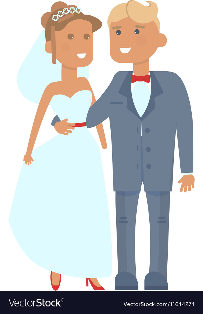 Wedding couple characters