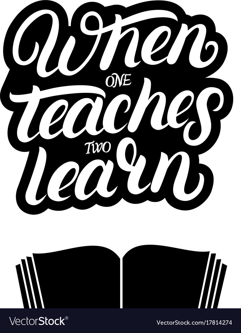 When one teaches two learn hand written lettering