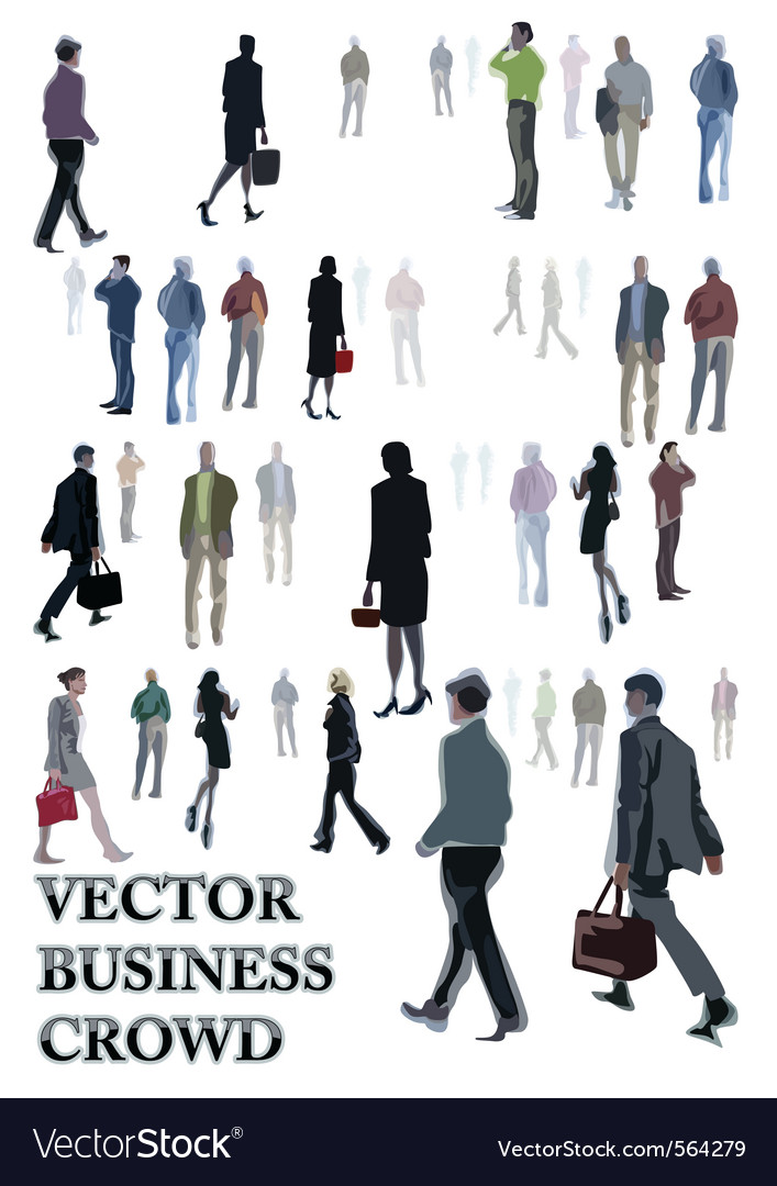 Abstract people sketches vector image