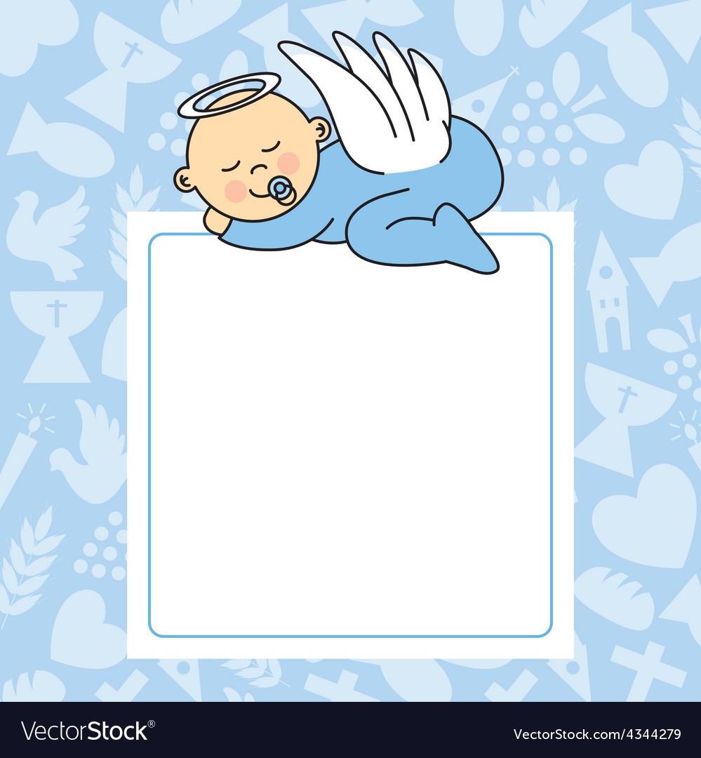 Baby boy sleeping vector image
