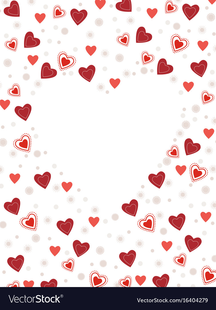 Background with heart decoration vector image