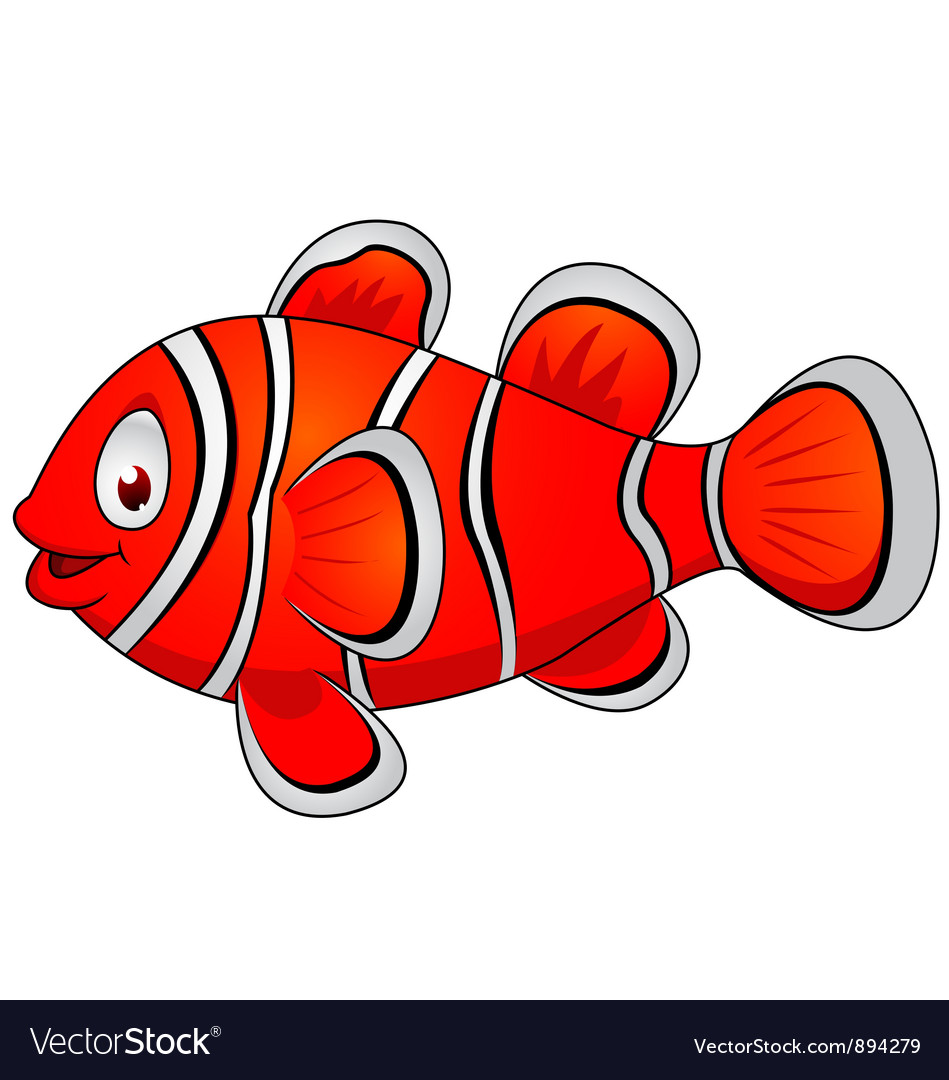 Clown fish cartoon Royalty Free Vector Image - VectorStock