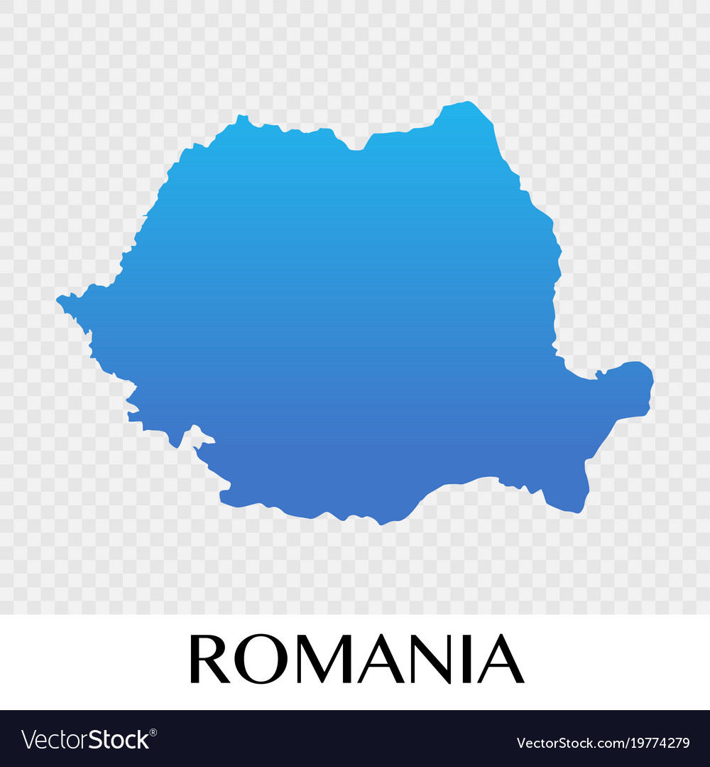 Romania map in europe continent design Royalty Free Vector