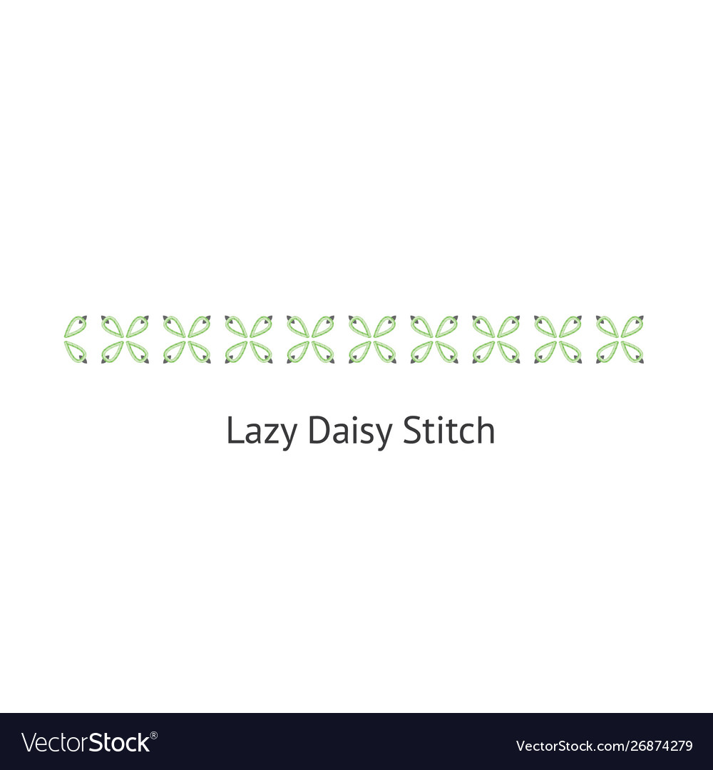 Seamless lazy daizy decorative stitch brush