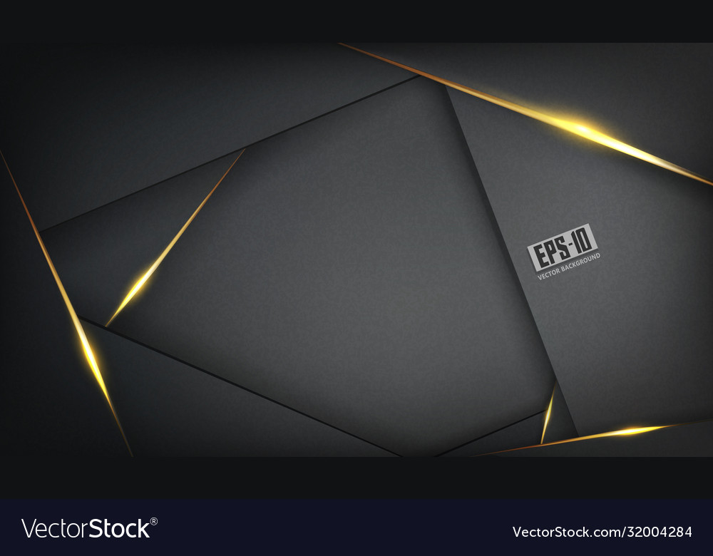 Abstract luxurious polygonal black background