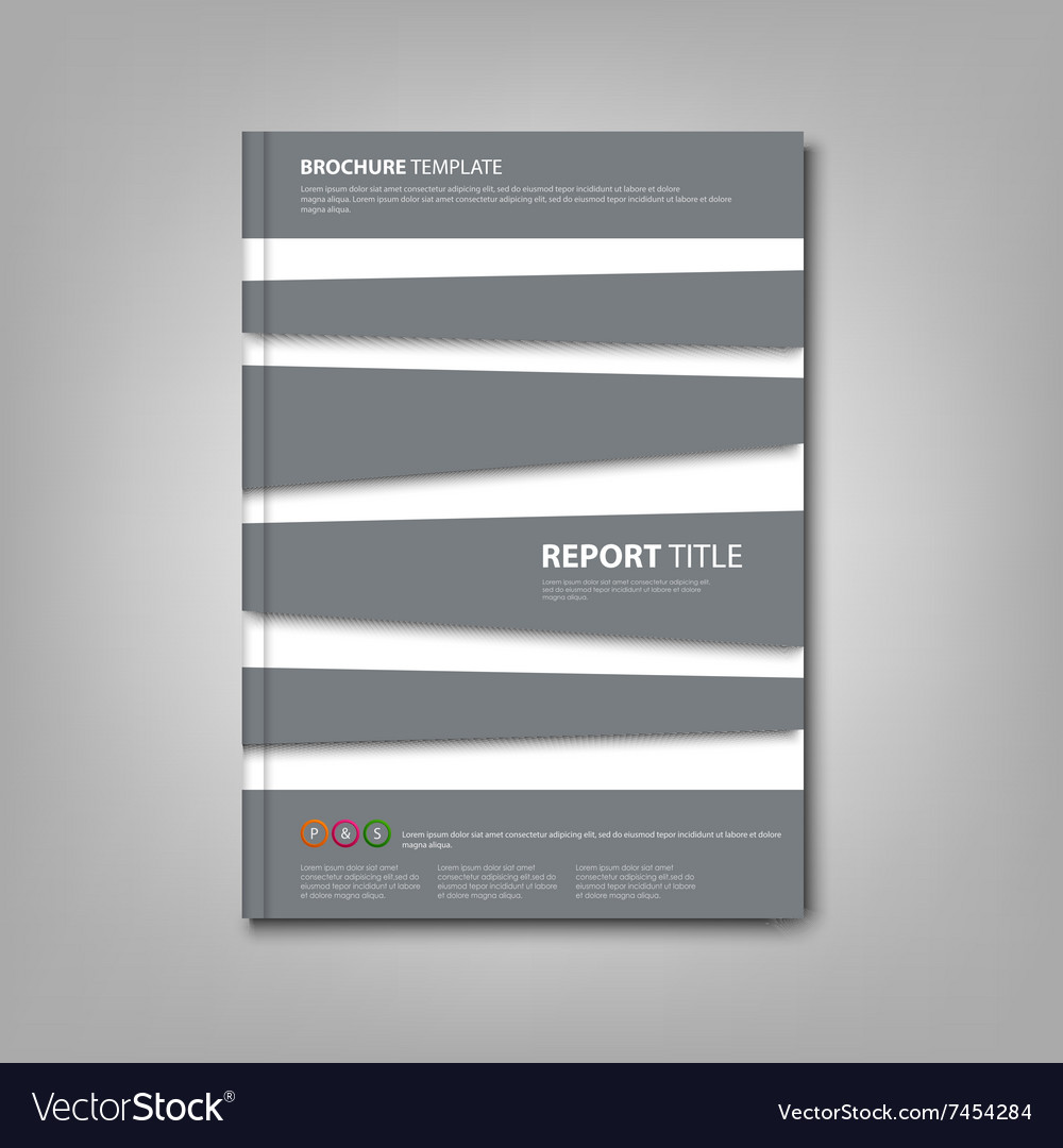 Brochures book or flyer with abstract gray stripes