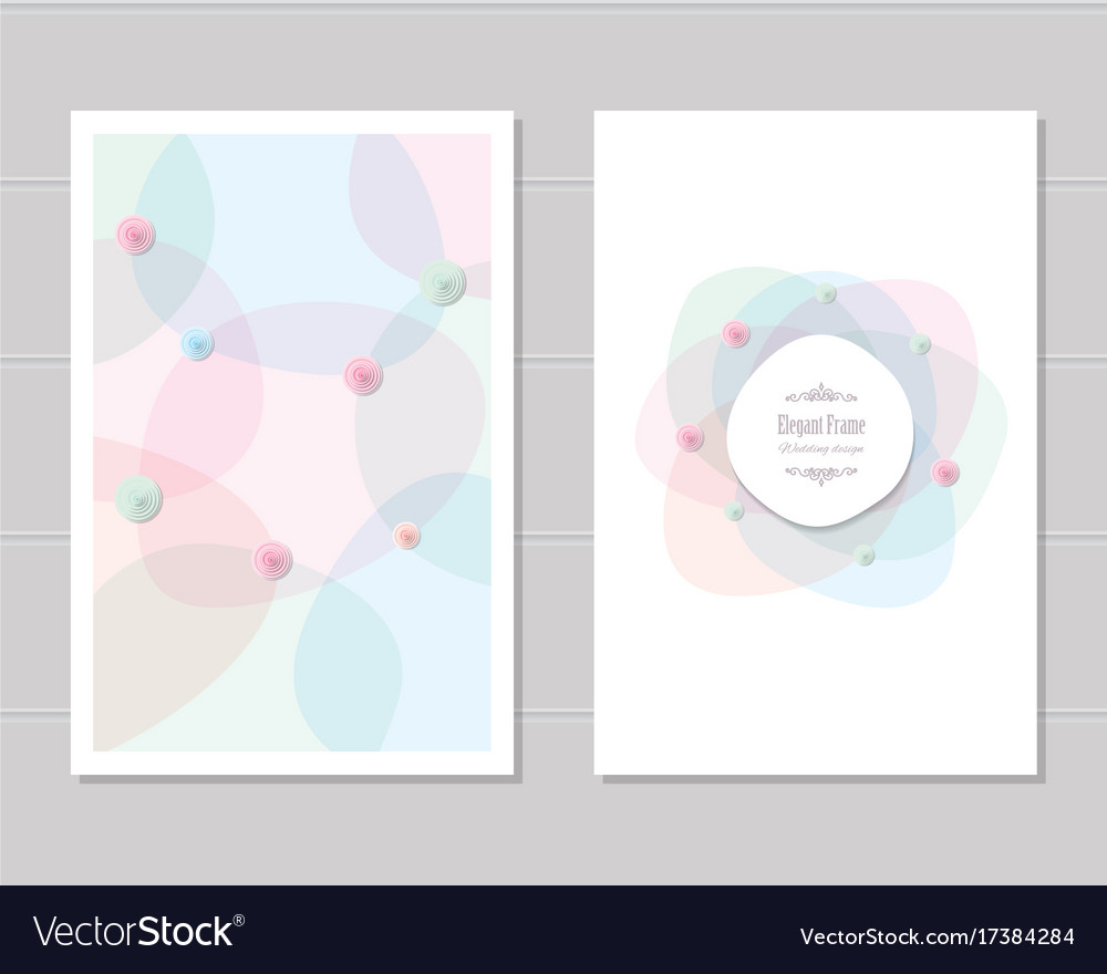 Card templates wedding invitation brochure cover vector image
