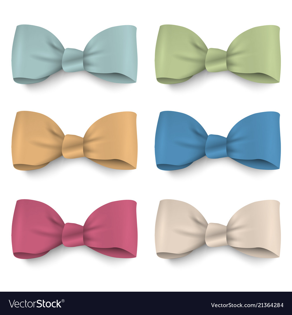 Collection pastel colors silk bows