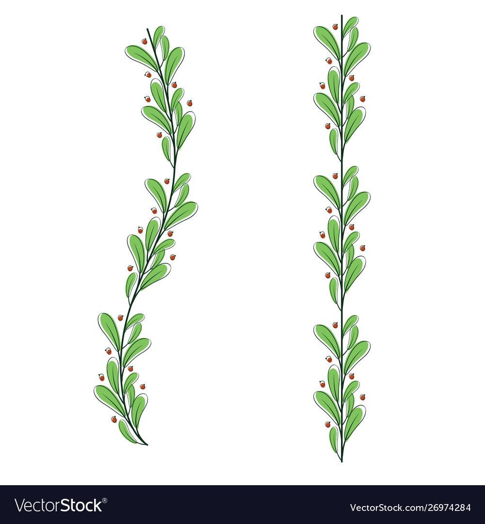 Decorative leaf romantic blossom