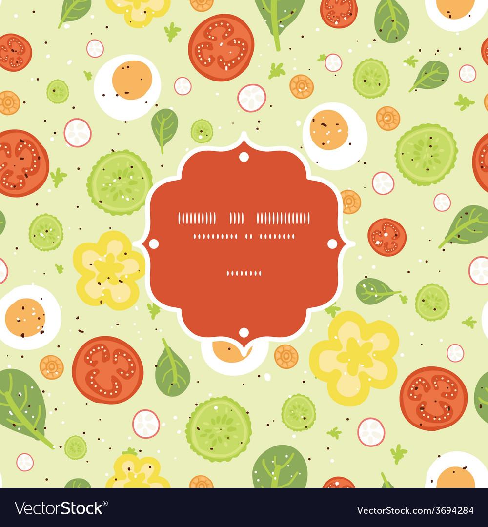 Fresh salad frame seamless pattern