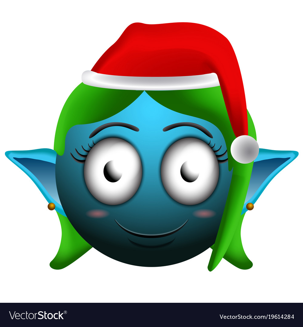 Happy Christmas Elf Emoji
