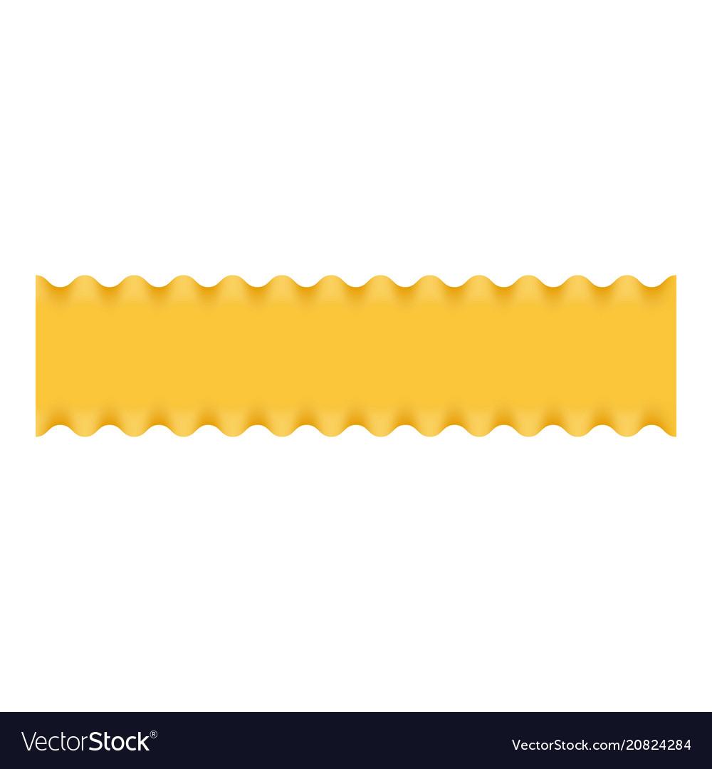 Lasagne pasta icon realistic style vector image