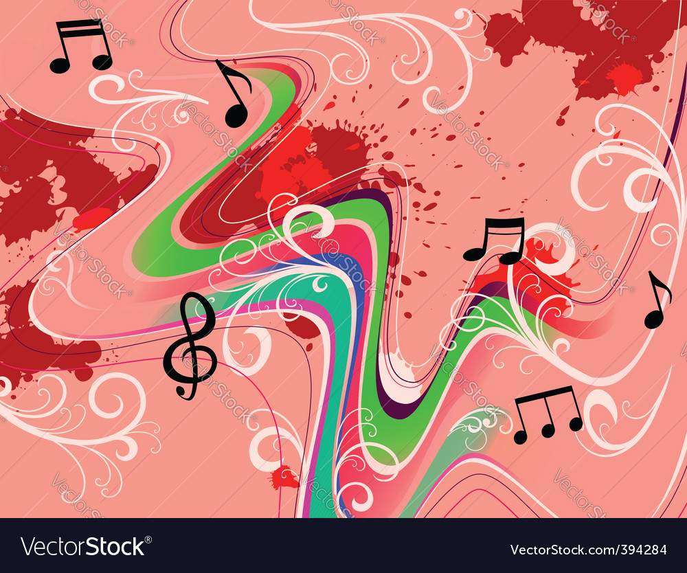 Music grunge vector image
