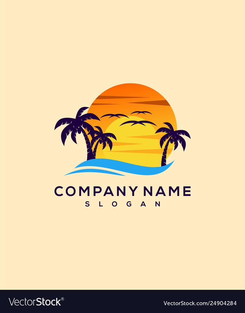 Sunset logo design