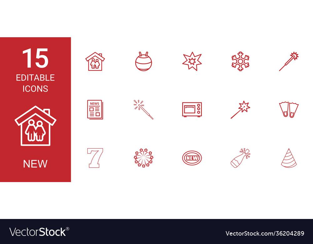 15 new icons
