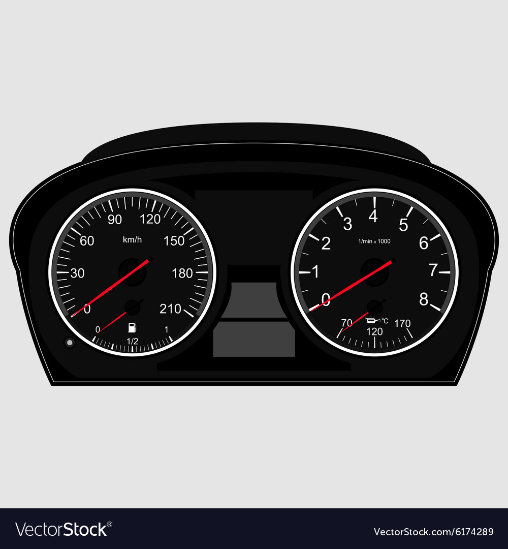 Car Instrument Panel Royalty Free Vector Image