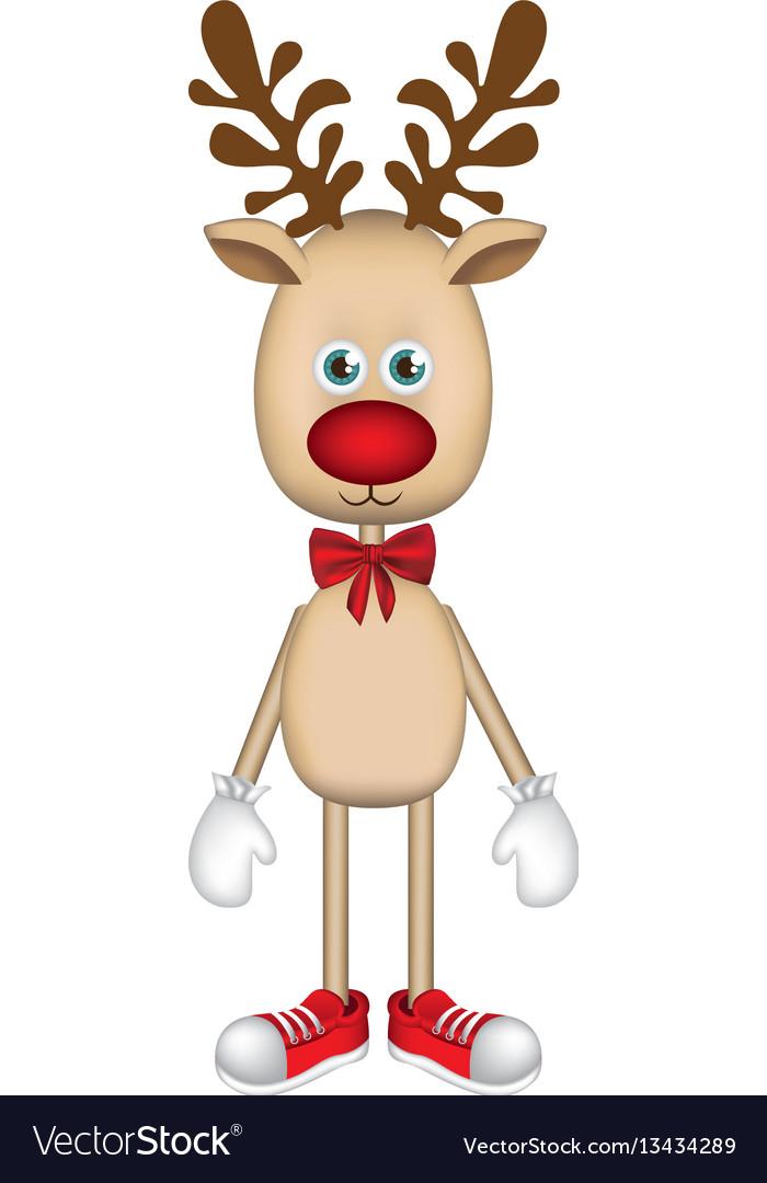 Colorful christmas reindeer icon