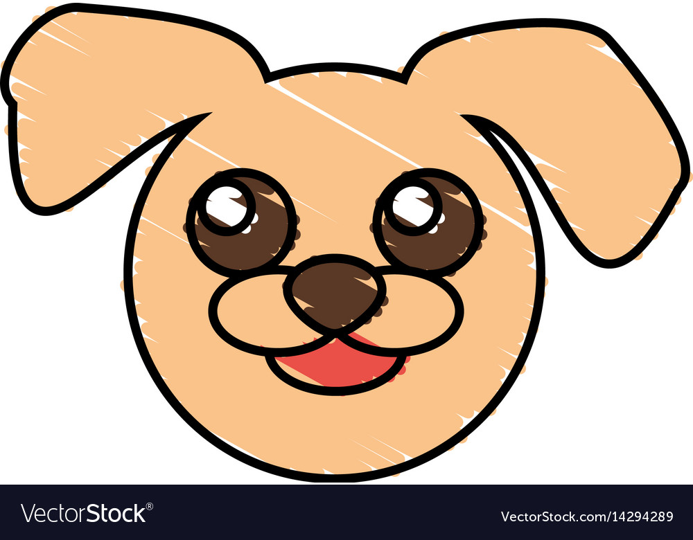 Cute Dog Drawing Animal Royalty Free Vector Image