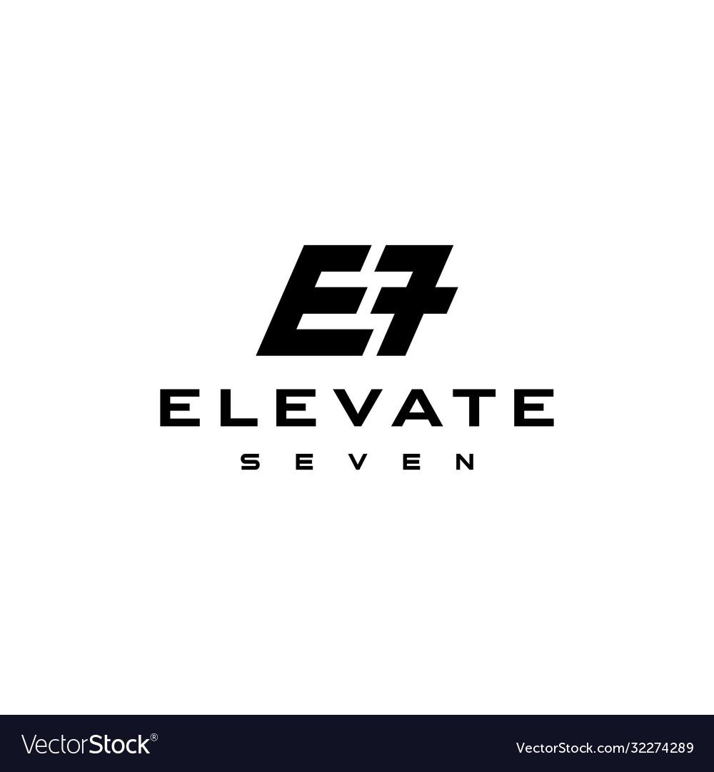 E7 modern sign