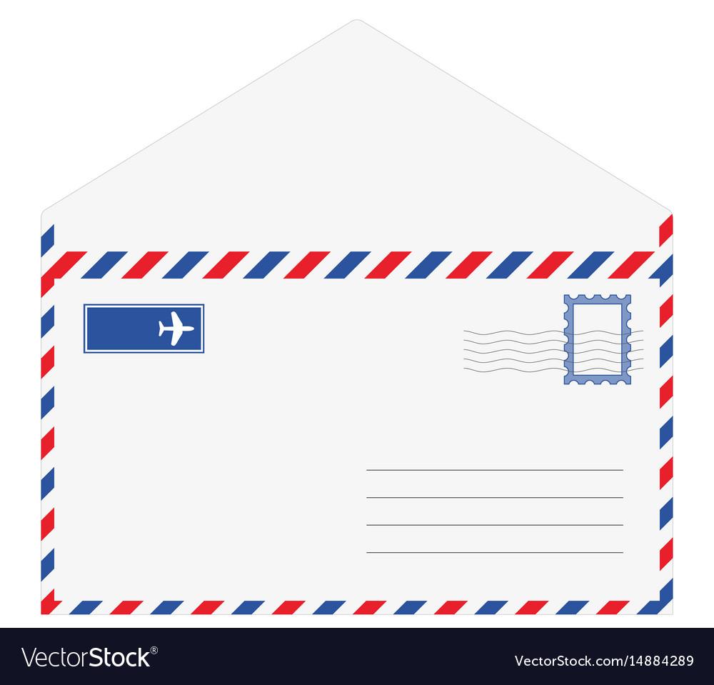 Envelope letter isolated on white background
