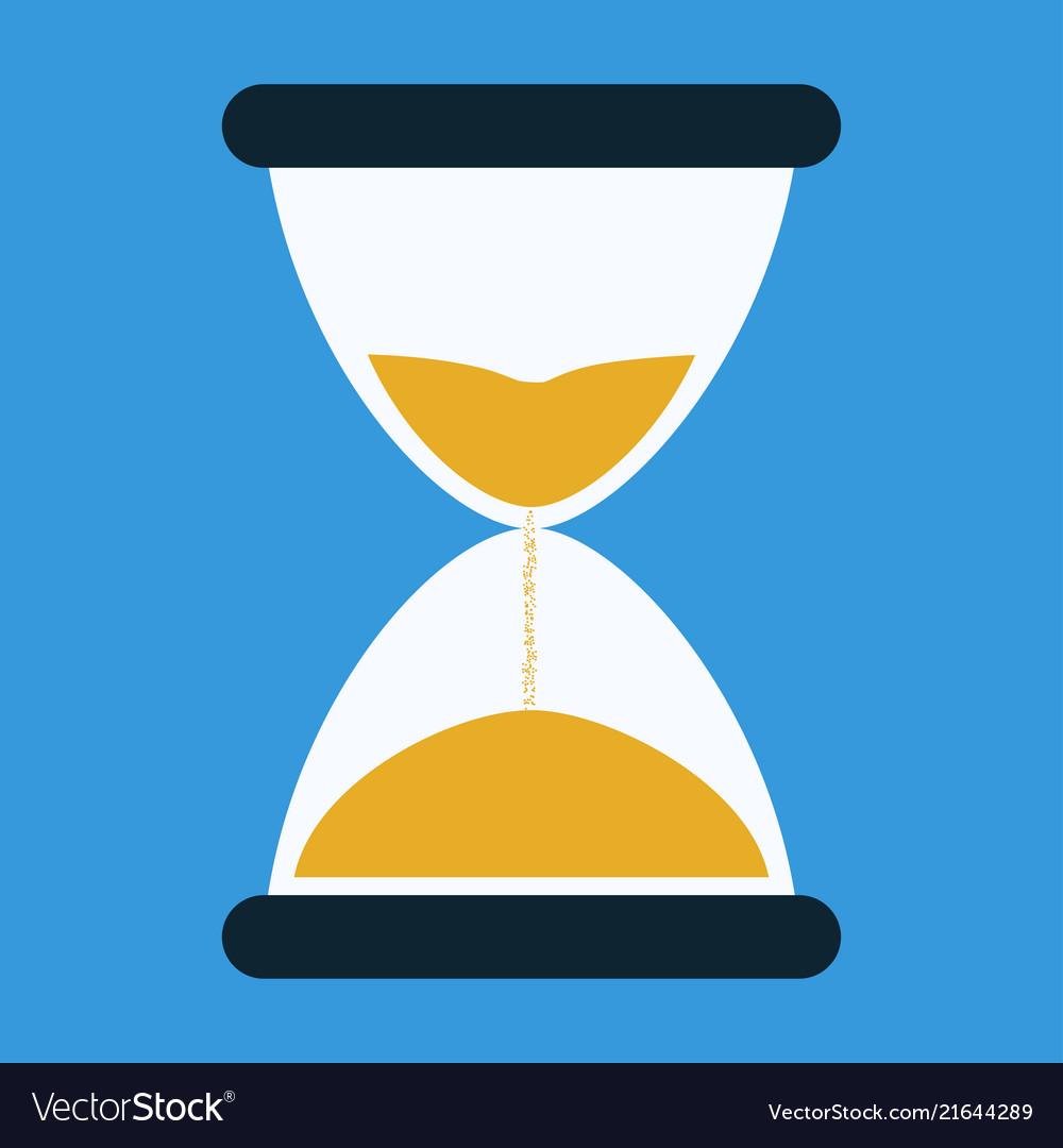 Flat icon of hourglasses