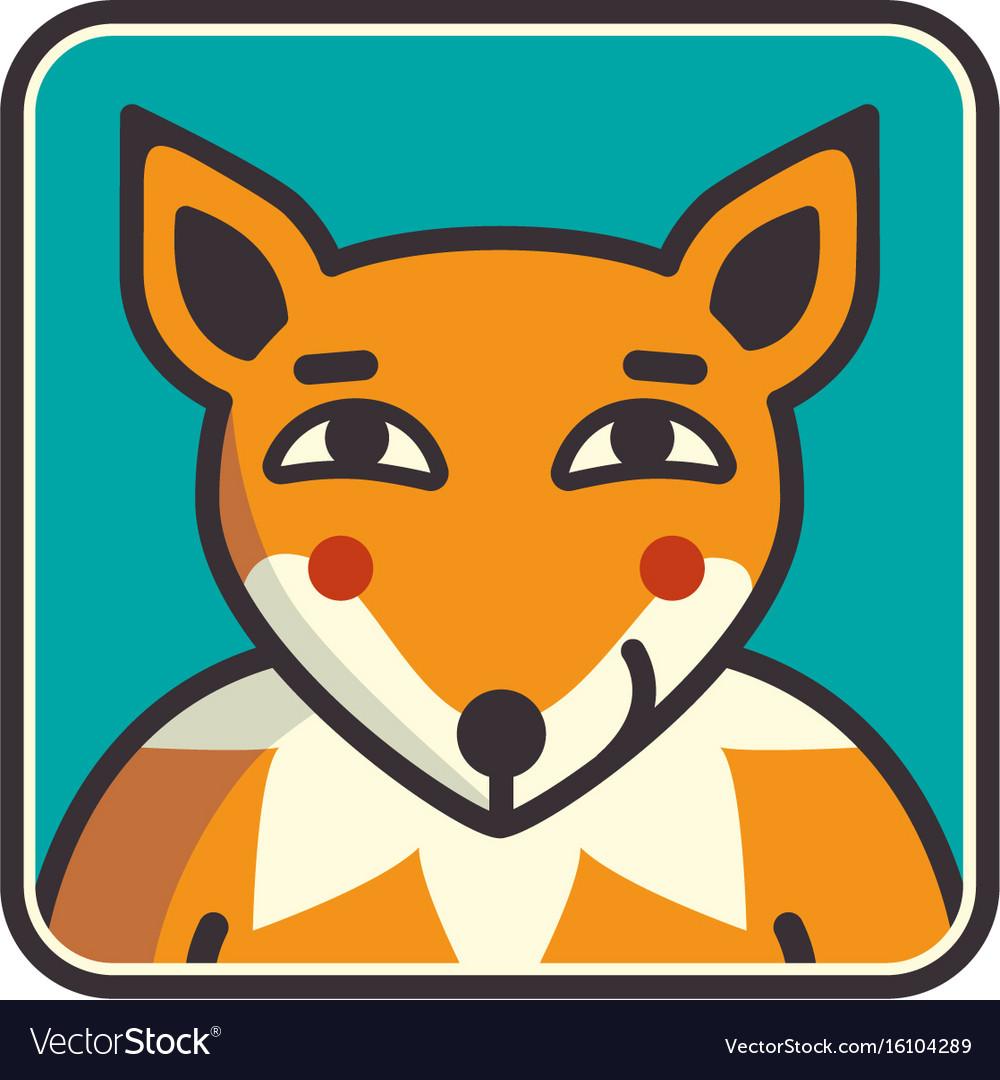 Fox head of fox vector image