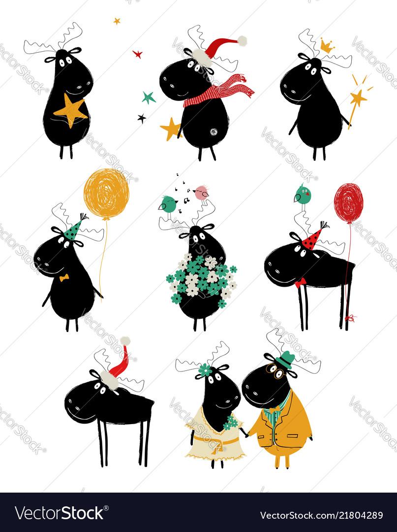 Free Cartoon Moose Clipart, Download Free Clip Art, Free Clip Art on Clipart  Library