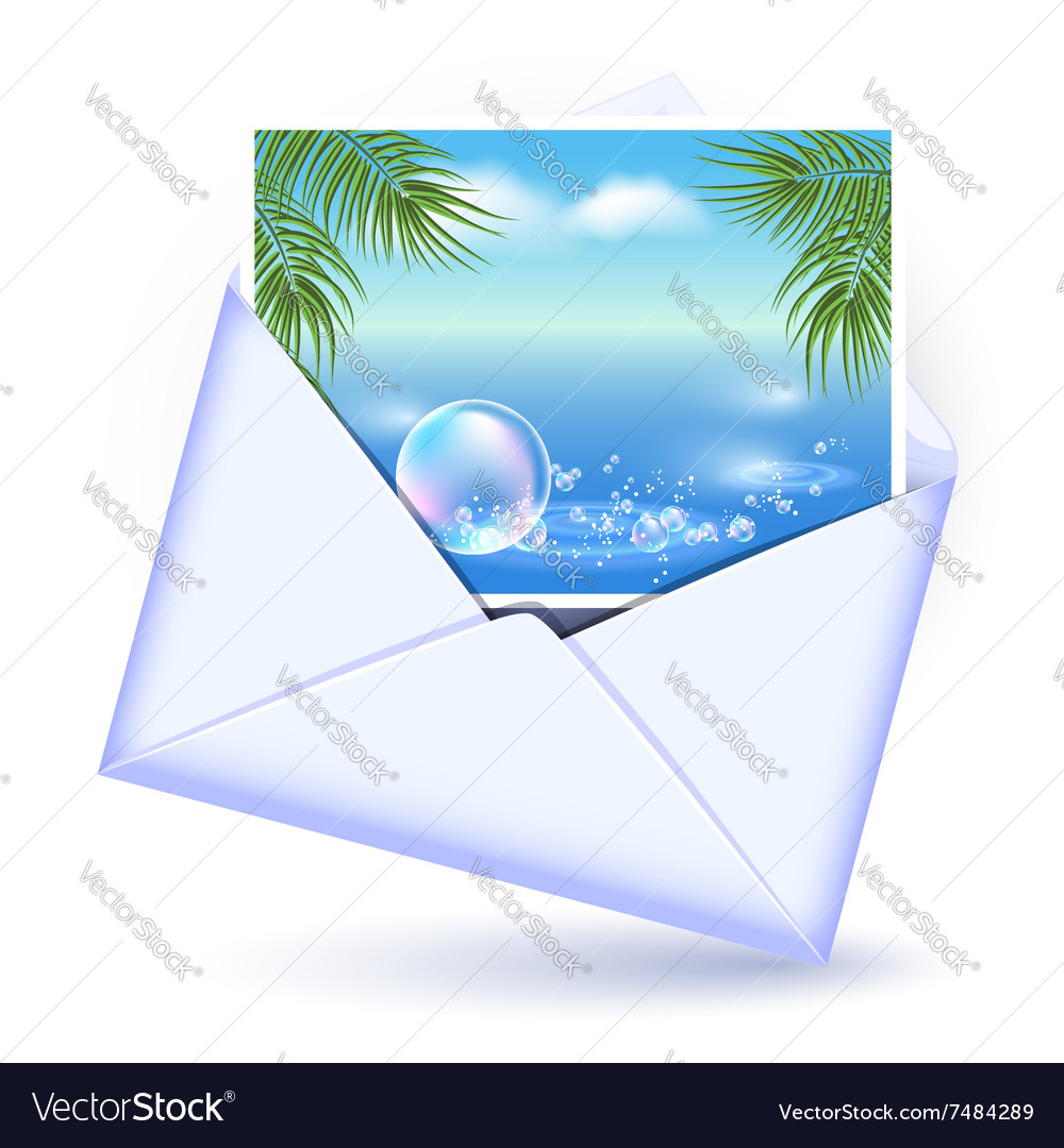 Open envelope and card