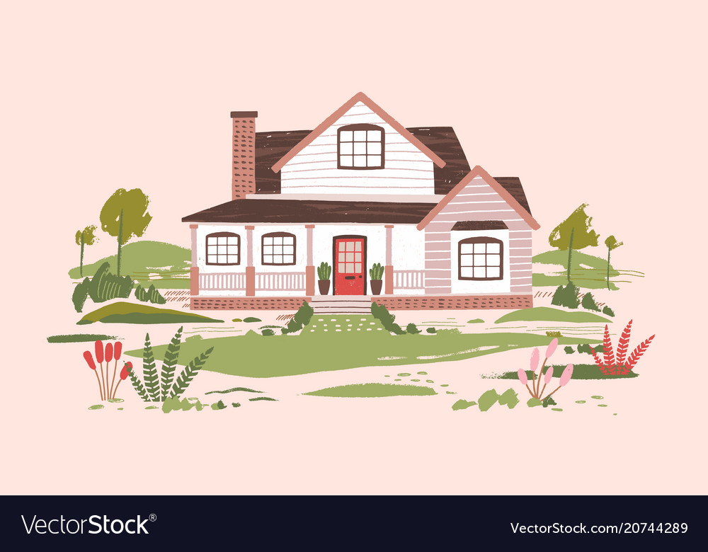 Summer cottage or beautiful two-storey suburban