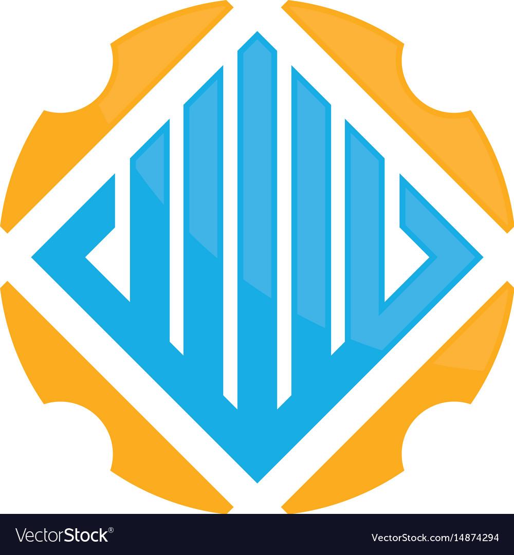 Abstract circle real estate logo image vector image