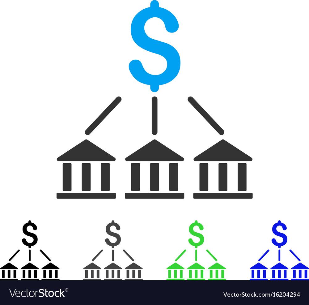 Bank association flat icon vector image