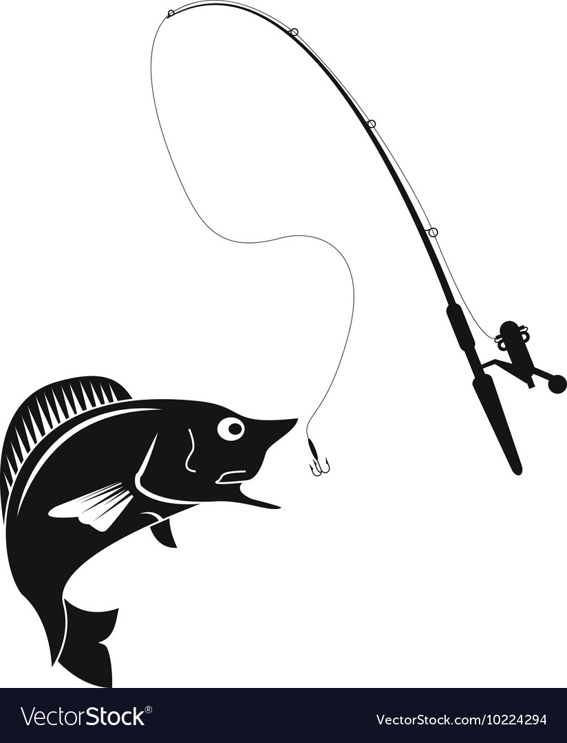 Fishing rod and rod icon