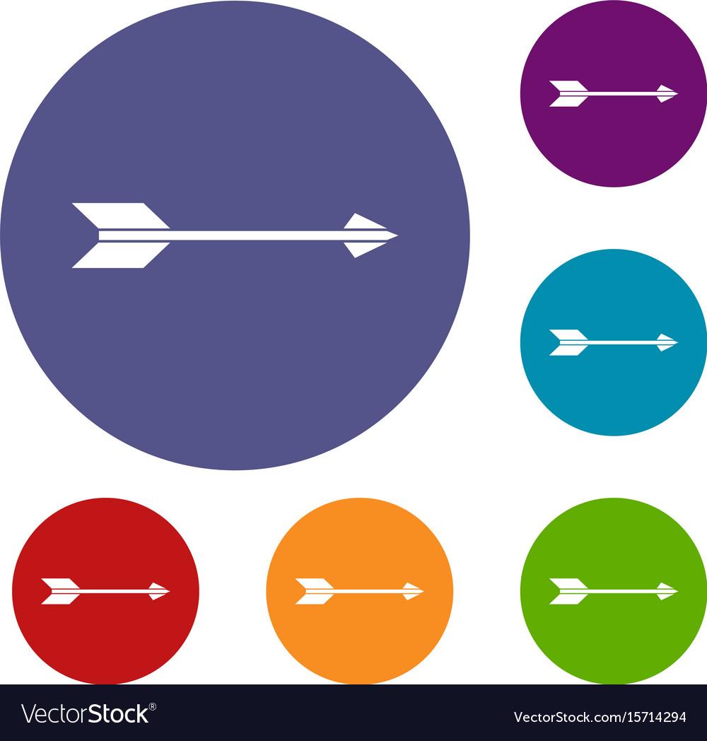 Long arrow icons set