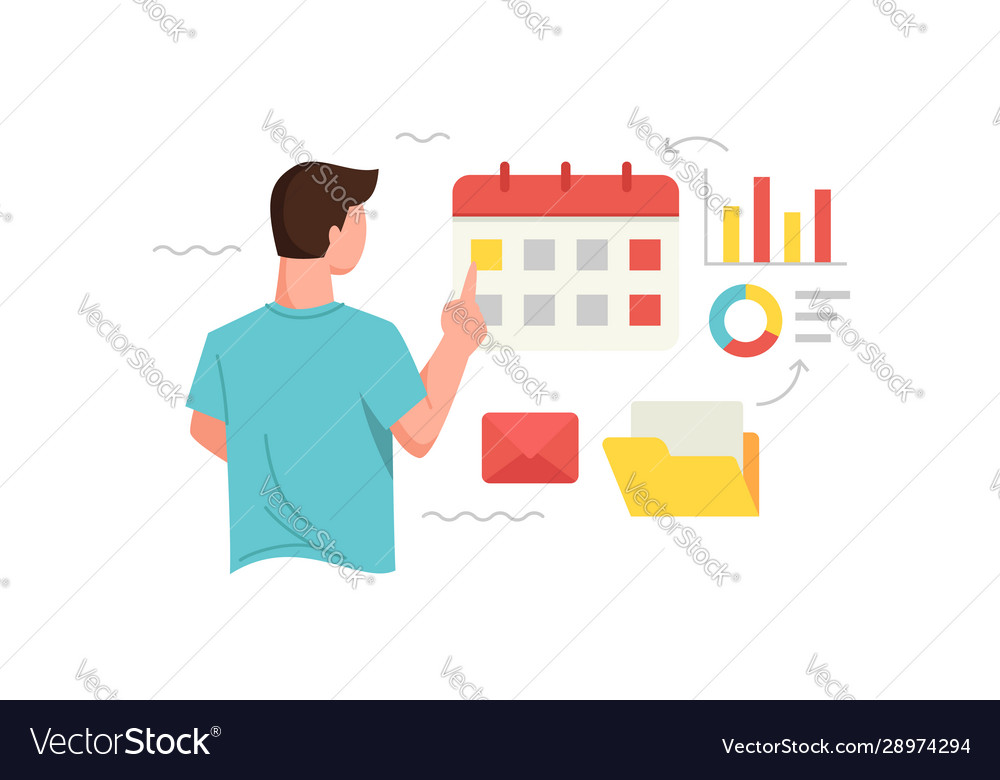 Manage time and schedule concept