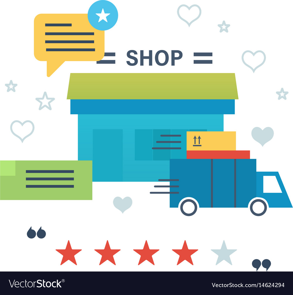 Online shopping reviews and ratings work of store