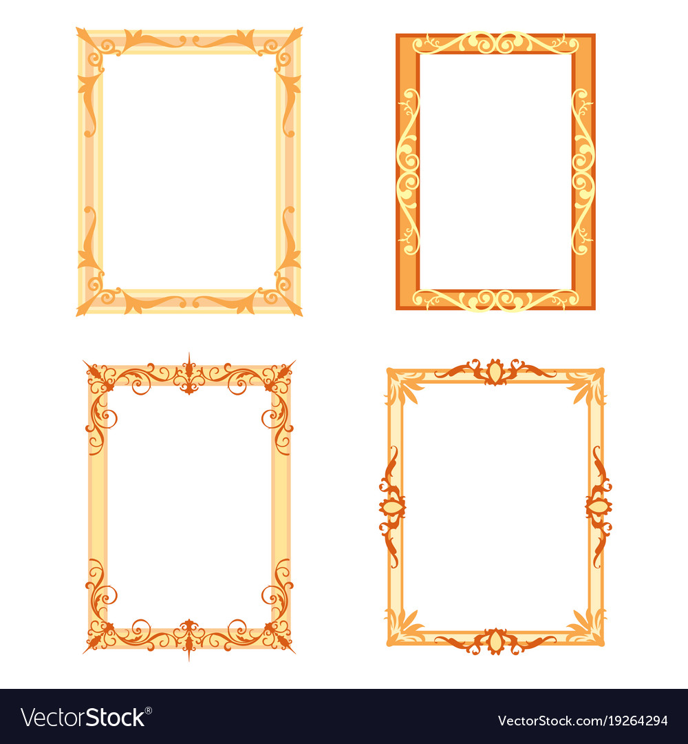 Set of decorative frames and borders set